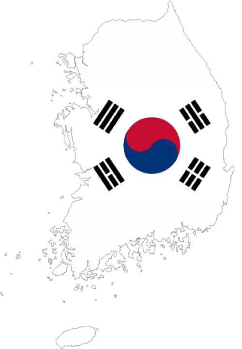 map Korean
